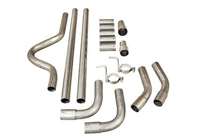 """Peugeot Sports Universal Full Cat Back System Pipe Kit 2"""" Exhaust Piping"""