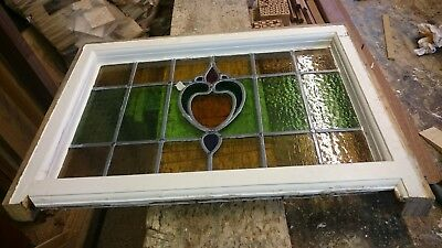 Leaded Stained Glass Panel 1930 Style Original