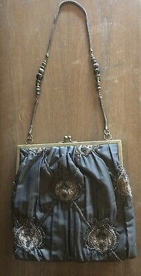 Rare Vintage Hand Made in India Unique Beaded Purse/Bag  Multi-Color Day Evening