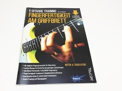 E-Gitarre Training - Fingerfertigkeit am Griffbrett -  Noten & Tabulatur