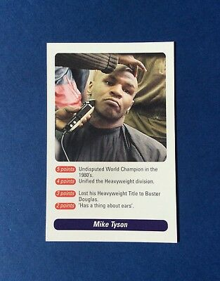 Mike Tyson Question Of Sport 2002 Card (Rare)