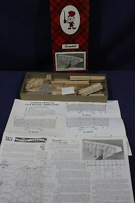 Campbell Scale Models ~ HO ~ Tall Curved Trestle ~ #304-975