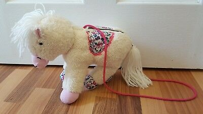 Joules, Little Joules Pink & White Girls Pony Bag With Floral Pattern Very Cute.