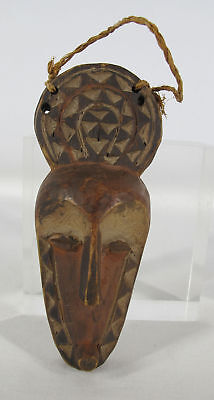 VTG African Pende Tribe Hand Carved & Painted Wood Face Passport Mask Zaire yqz