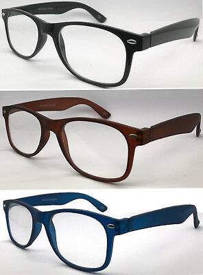 L223 (2 Pairs Only £5.69) Classic Popular Designed Plastic Plain Reading Glasses