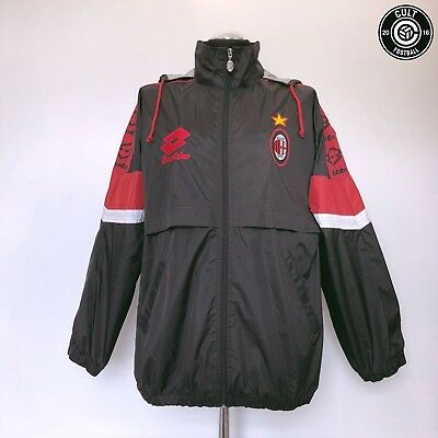 AC MILAN Lotto Vintage Retro Football Rain Jacket 1995/96 (M) Baggio Weah Era
