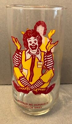 "Vintage ""Ronald McDonald"" 1970's Collector Series - Character Drinking Glass"