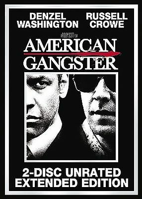 American Gangster (DVD Movie) Denzel Washington Russell Crowe 2-Disc Unrated