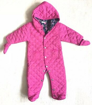 Jojo Maman Bebe Pink Pramsuit / All-in-one Age 6-9 Months Great Condition