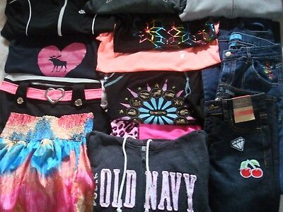 Girls Clothes Size 10-12 Lot ,SOME NWT, Abercrombie,Nike,Justice,CP,Aeropostale