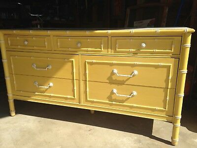 Vintage 1960 Thomasville Allegro Chinese Chippendale Dresser Palm Springs Bamboo