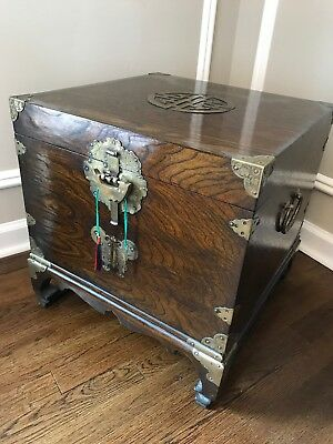 Antique Chinese Chest Side Table