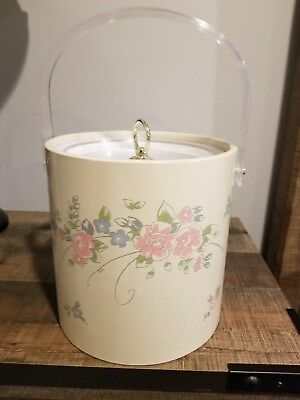 Vintage Pfaltzgraff Tea Rose Ice Bucket Made In Usa Rare Hard To Find