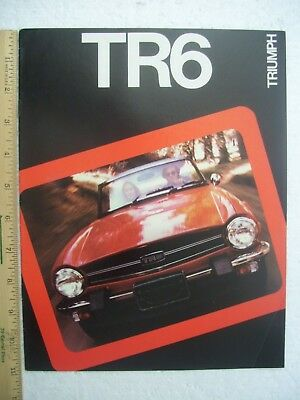 Triumph Tr6 - 1975 Sales Brochure - 8 Very Nice Pages