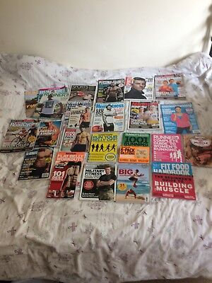 Selection of woman's and mens fitness magazines from  2015
