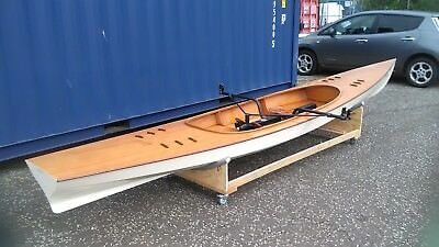 EXPEDITION WHERRY, Very Fast Sliding Seat Rowing Boat, New, Plywood Epoxy