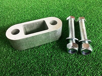 """Tow Bar Towball Spacer  2.0"""" (50MM)  & 100mm Long Bolts Nyloc Nuts & Washers"""