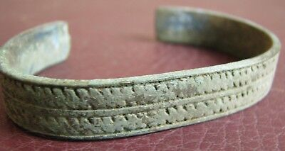 Authentic Ancient Lake Ladoga VIKING Artifact > Bronze Bracelet AU 2B