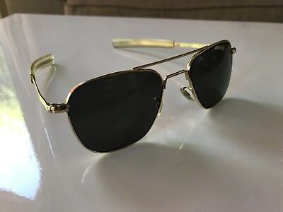 Vintage Command Gold 24k Naval Aviator Sunglasses American Optical Ray Ban Era