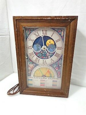Vintage Fairfield Electric Wood Framed Planters Clock