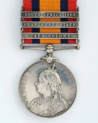 Queens South Africa Medal - 3 Bars - 7179 PTE W.Taylor. RIFLE BRIGADE