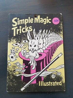 ADAMS SIMPLE MAGIC TRICKS ILLUSTRATED- Cool Collectible Book!