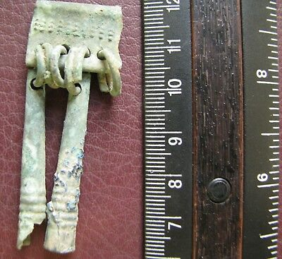 Authentic Ancient Lake Ladoga VIKING Artifact > Bronze Pendant AU 4C