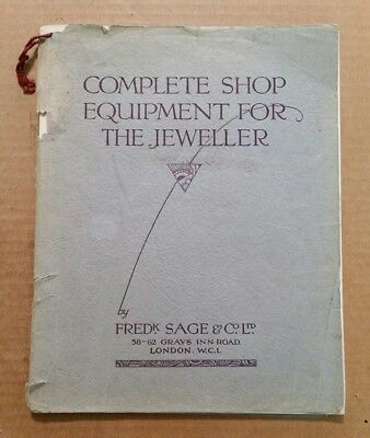 Complete Shop Equipment For The Jeweler,Fred Sage & Co.,Catalog,1928