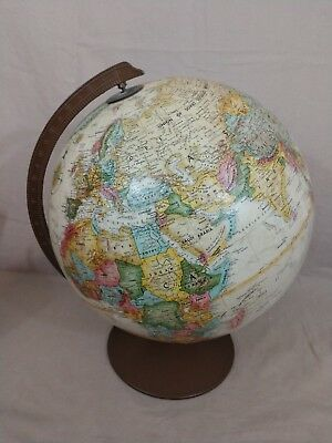 Vintage Replogle 12 Inch World Classic Series Globe Raised Relief Map