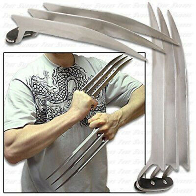X-Men Wolverine Style Steel Claws Pair (1x per hand) Cosplay New in Box