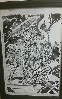 The Mighty Thor issue 20 pg 5 orginal art splash page, featuring Thor!