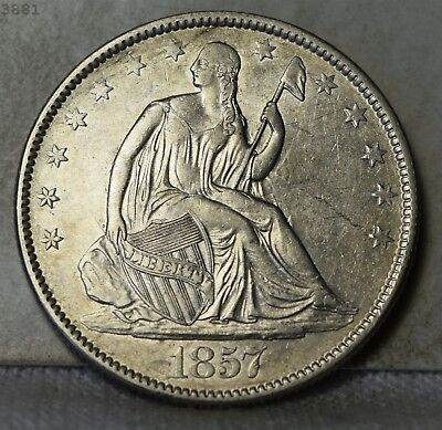 "1857 Liberty Seated Half Dollar ""AU"" *Free SH After 1st Item*"