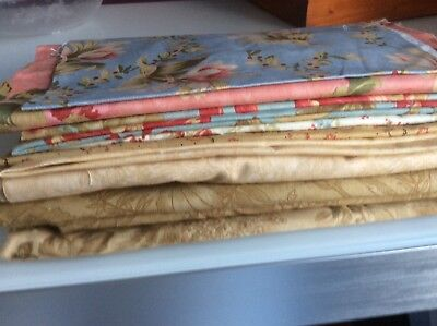 Patchwork and Quilting fabric Moda scraps bundle from various collections, all g