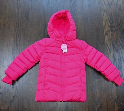 The Children's Place girls fuschia puffer quilted hooded jacket price $60 NWT
