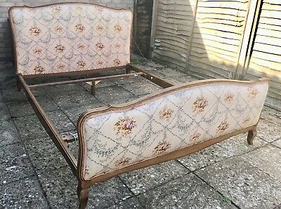 Antique Lit style Louis XV French original double bed