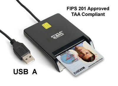 SGT111-8 Military CAC PIV Smart Card Reader (USB A) (FIPS 201) (TAA Compliant)