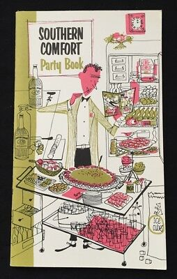 1950s Southern Comfort Party Book Booklet RECIPES Drinks Bar Games Liquor