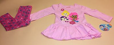 Bubble Guppies Toddler Girl Pink Shirt and Leggings Outfit Set New 3T