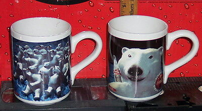 Coca - Cola Brand Ceramic Polar Bear Coffee Mugs
