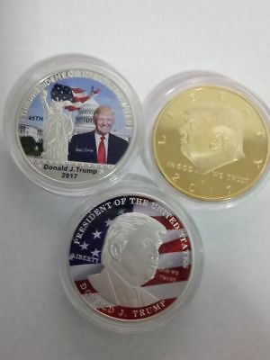 Rare Donald Trump Republican Token Gold Silver Picture Coin Collection Lot Set