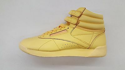 f42ad01f1fc Reebok Freestyle Hi Color Bomb Sunshine Yellow White Womens Size Sneakers  Bs7862
