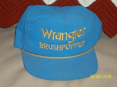 Wrangler BRUSHPOPPER Blue and Yellow Adjustable Baseball Cap