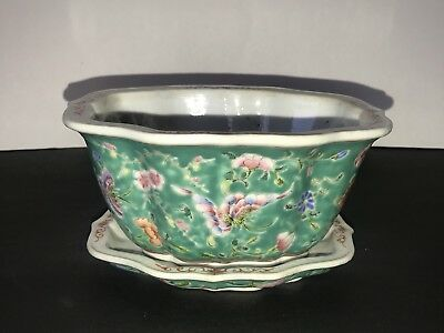 Antique Chinese late 19th/20th Century Famille Rose Small Planter