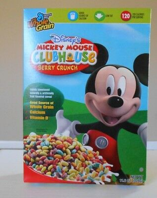 SEALED Disney's Mickey Mouse Clubhouse Berry Crunch Cereal exp 2008 Gen. Mills