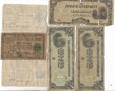 Rare Old Antique Japanese Invasion WWII Vintage WW2 Note Japan Collection Lot WW