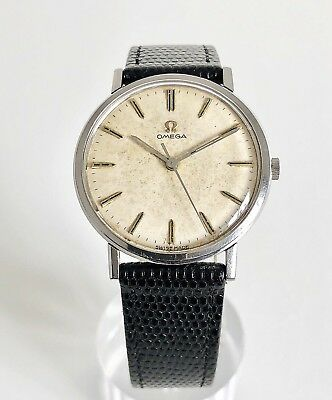 Omega Patina Dial With Original Papers Cal. 601 Dating To 1964