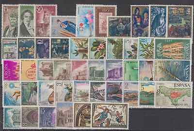 Espagne Year 1972 New Mnh Spain Complete Without Stamp Hinges