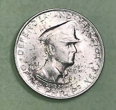 1947-S Phillipines Silver 50 Cents Uncirculated Collector Coin.
