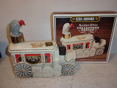 Ezra Brooks Bucket of Blood Dead Wagon Bottle Decanter with Box