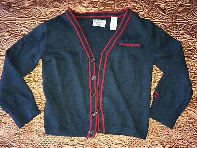 sz4 S original Penguin Munsingwear Boy EUC toddler cardigan sweater button up